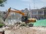 أعمال اقتلاع الأشجار في مغارة الكتان